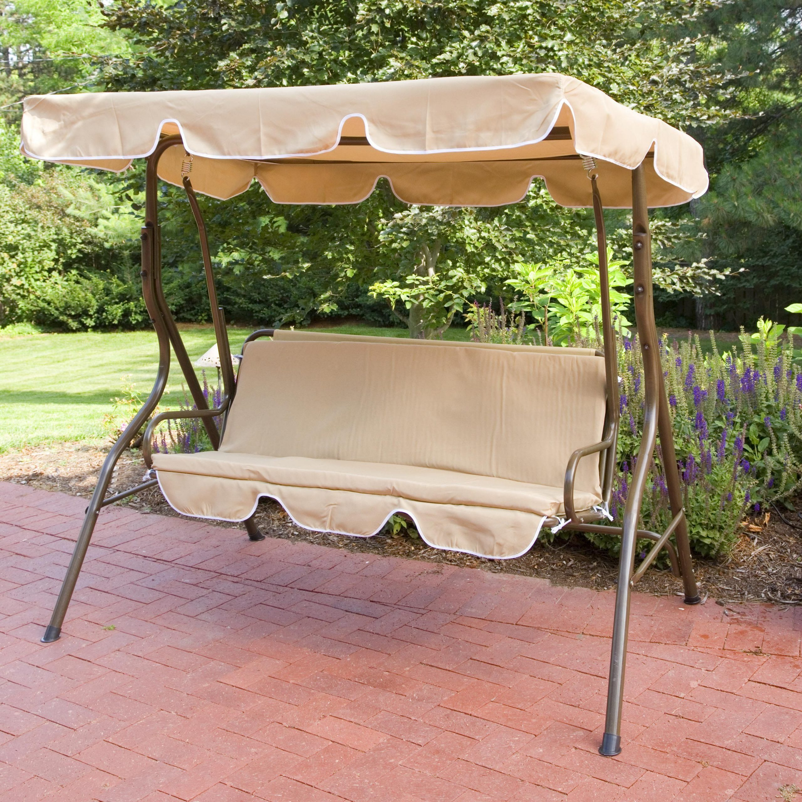 Canopy Swing Set: Ginger Cove 2 Person Canopy Swing With Popular Patio Glider Hammock Porch Swings (View 5 of 30)