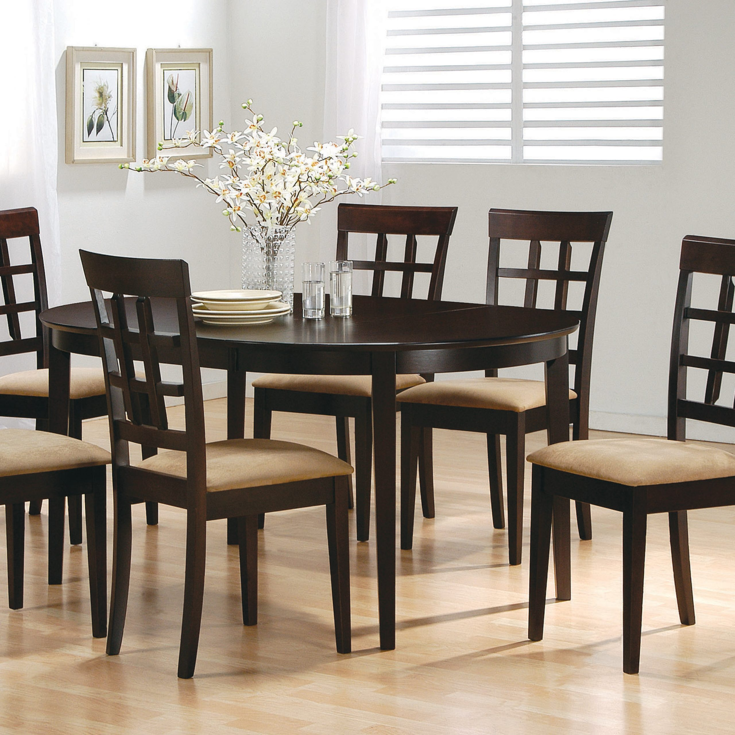 Cappuccino Finish Wood Classic Casual Dining Tables Regarding Well Known Gabriel Oval Dining Table Cappuccino – Coaster Fine Furniture (Gallery 6 of 30)