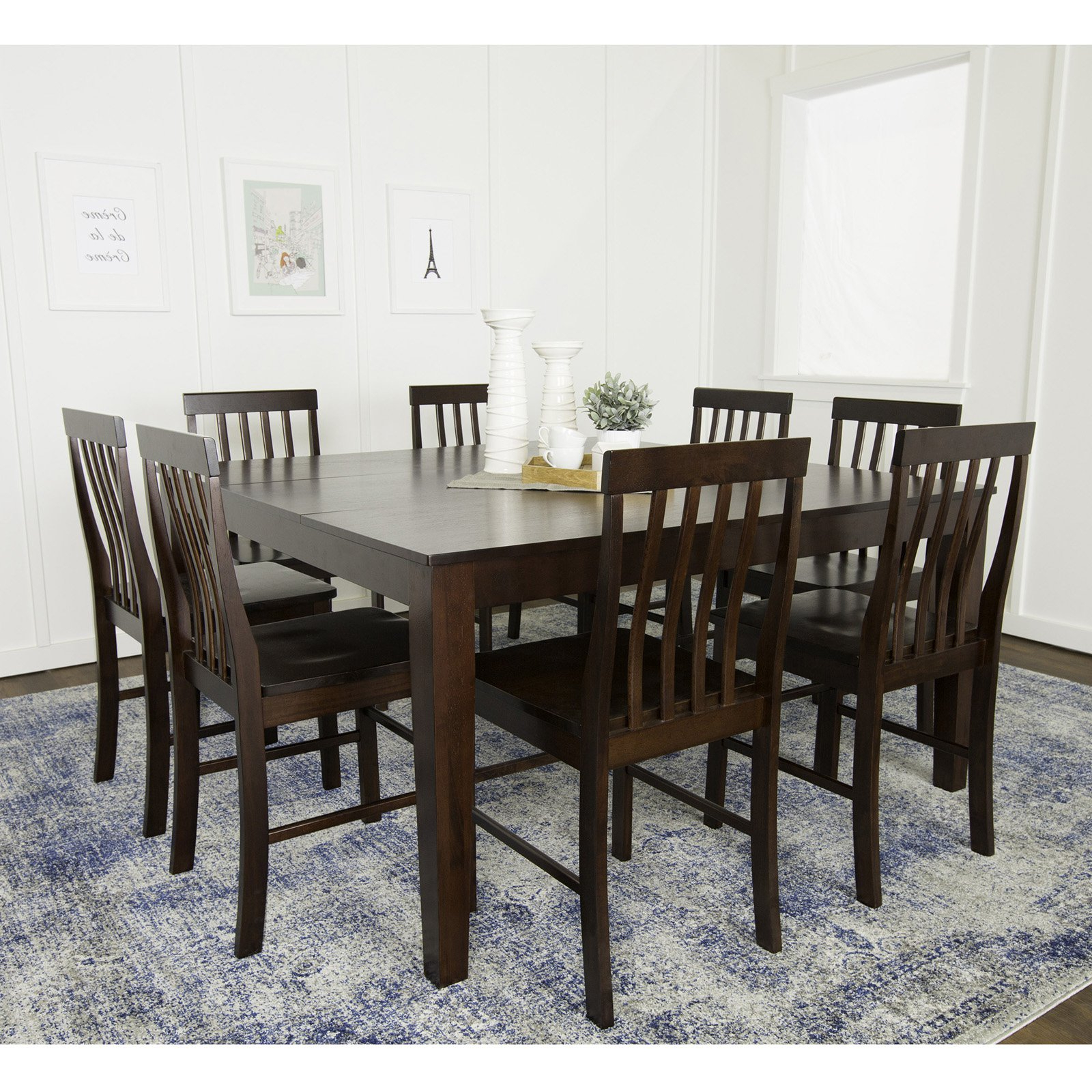 Cappuccino Finish Wood Classic Casual Dining Tables Within Trendy Walker Edison Solid Wood Casual Dining Table – Cappuccino (View 13 of 30)