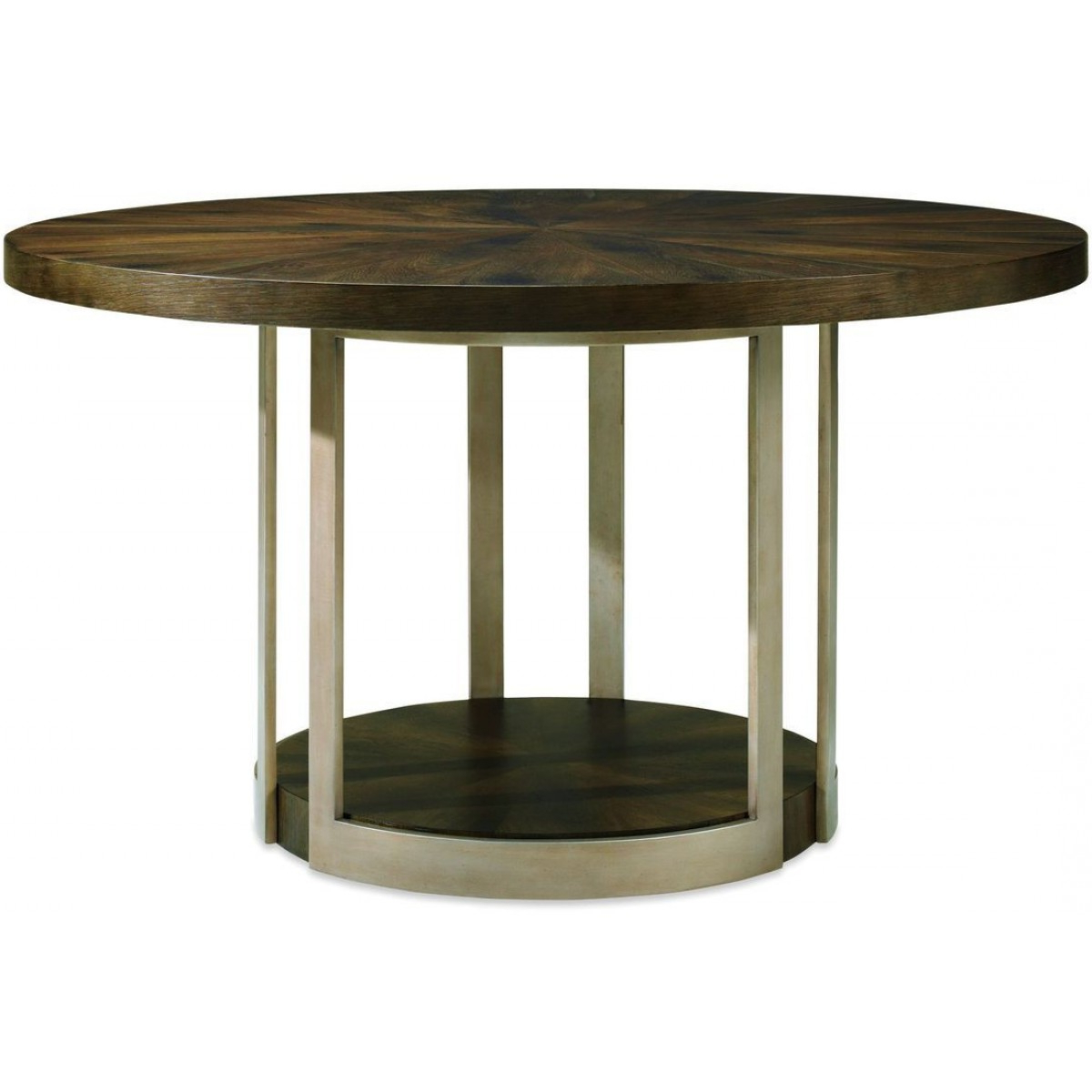 Caracole Modern Artisans Gather Round Dining Table, Dark Fumed Oak With Trendy Fumed Oak Dining Tables (View 7 of 30)