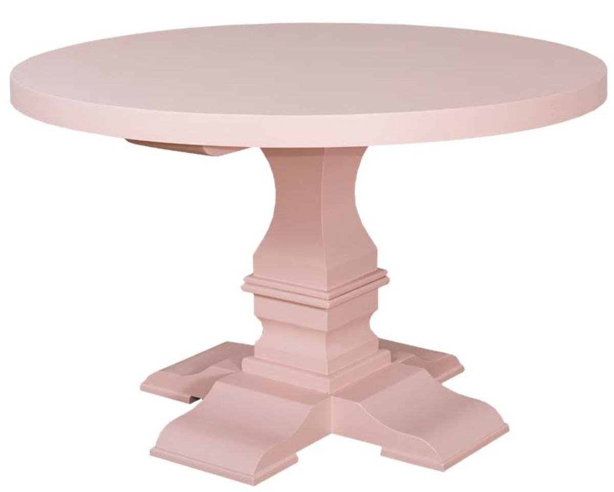 Casa Padrino Country Style Dining Table Round Light Pink Intended For Most Current Neo Round Dining Tables (Gallery 23 of 30)