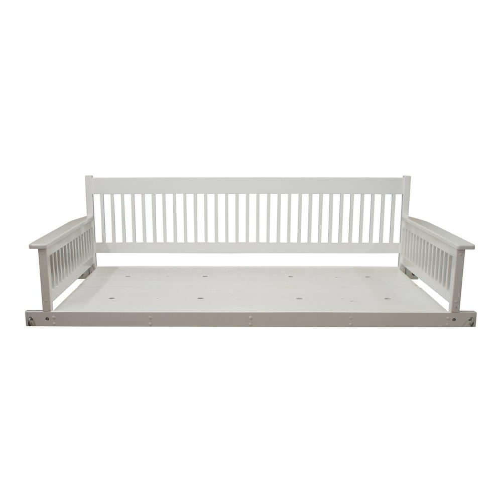 Casual Thames White Wood Porch Swings Intended For Best And Newest Hinkle Chair Company Plantation 2 Person Daybed White Wooden (View 13 of 30)