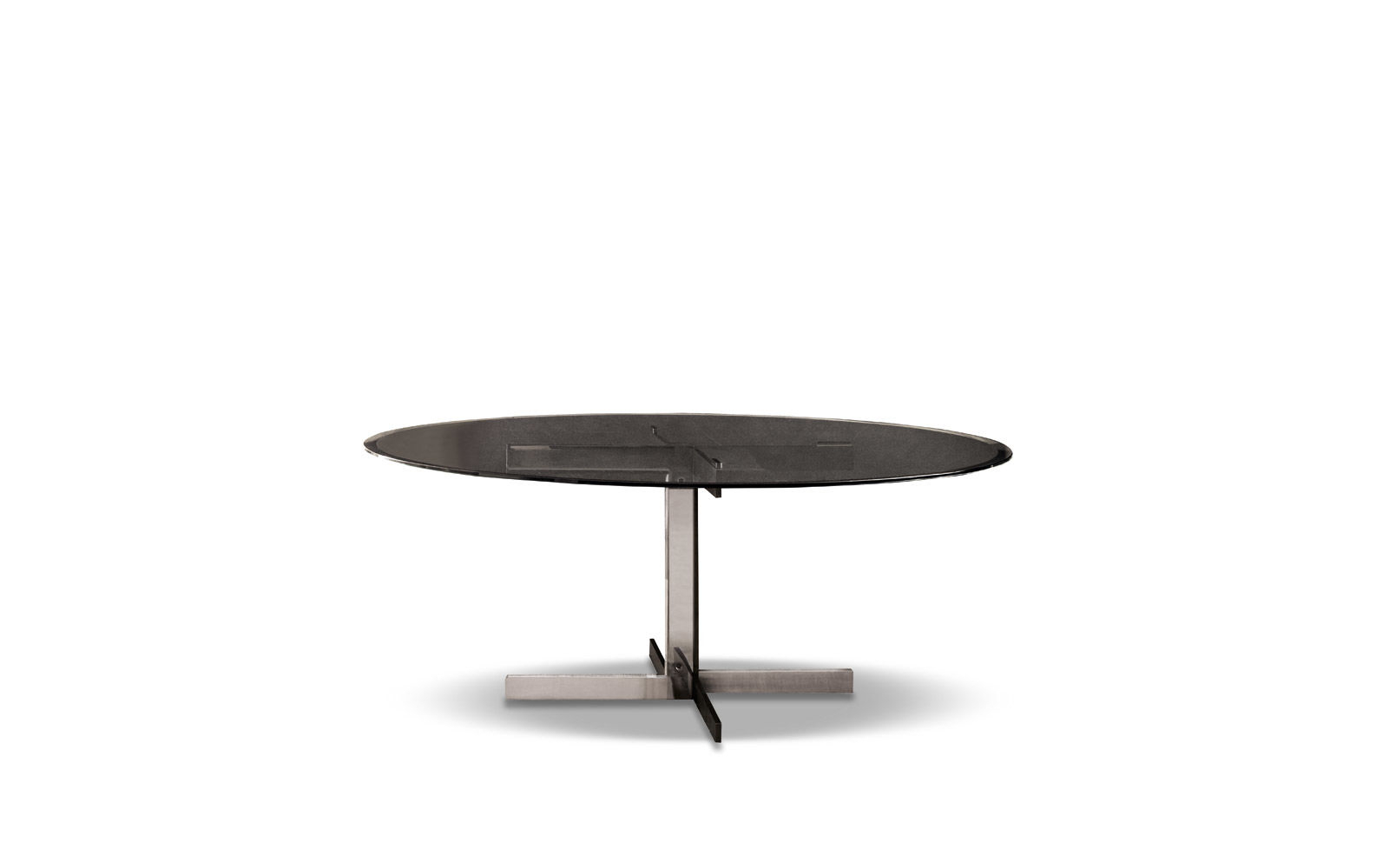 "Catlin ""dining"" Table With Regard To Fashionable Smoked Oval Glasstop Dining Tables (View 9 of 30)"