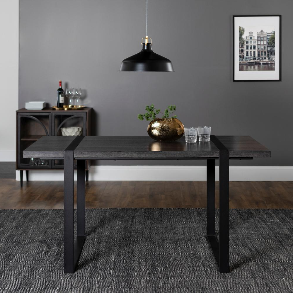 Charcoal Transitional 6 Seating Rectangular Dining Tables In Favorite Walker Edison Furniture Company Urban Blend 60 In (View 4 of 30)
