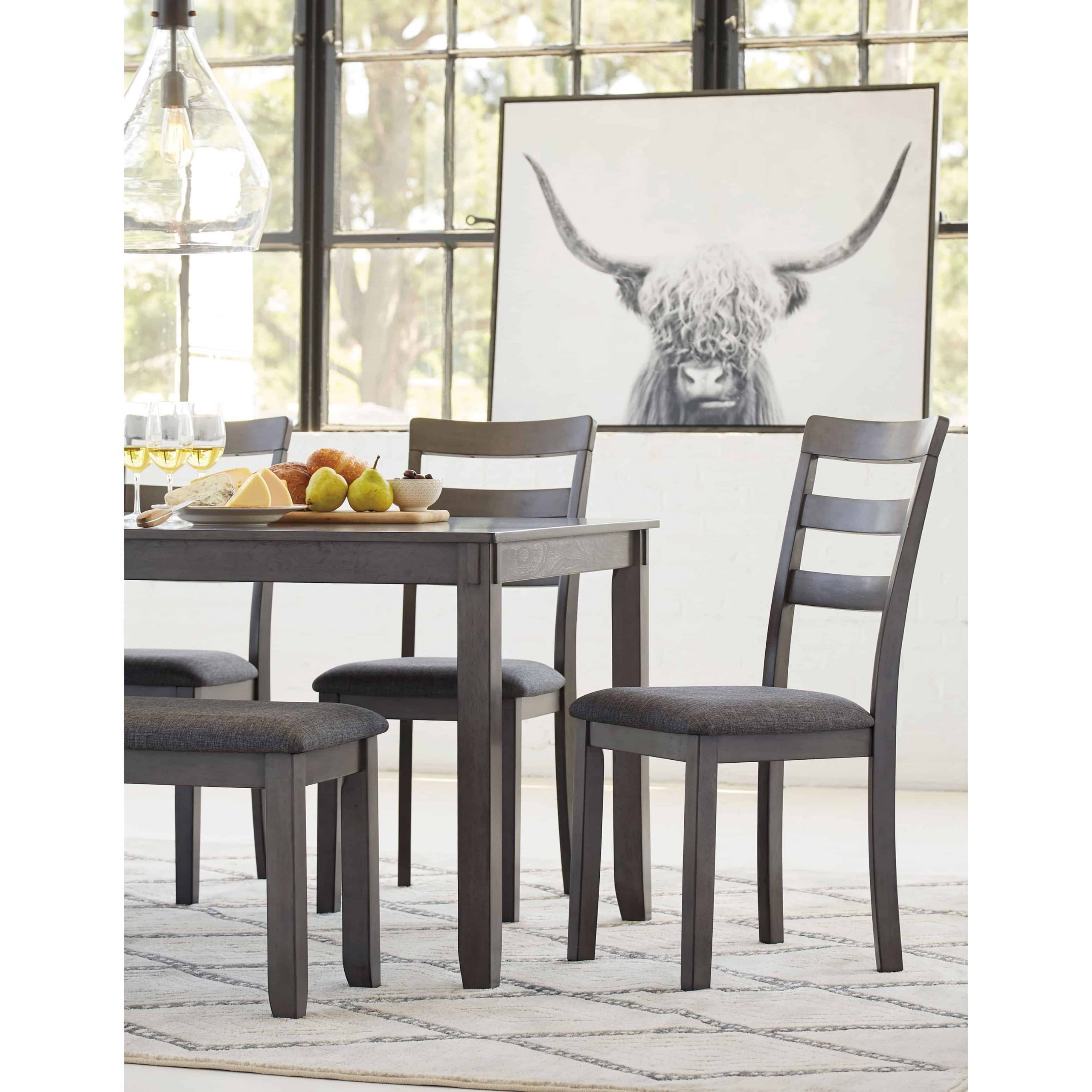 Charcoal Transitional 6 Seating Rectangular Dining Tables In Most Current Bridson Rectable Dining Room Table Set (6/cn) (View 24 of 30)