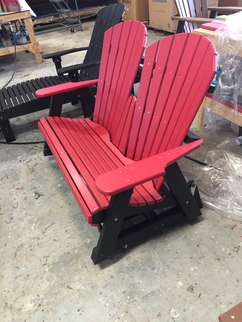 Charlotte Poly Lumber Furniture & Adirondack Chairs Inside Widely Used Classic Adirondack Glider Benches (Gallery 8 of 30)
