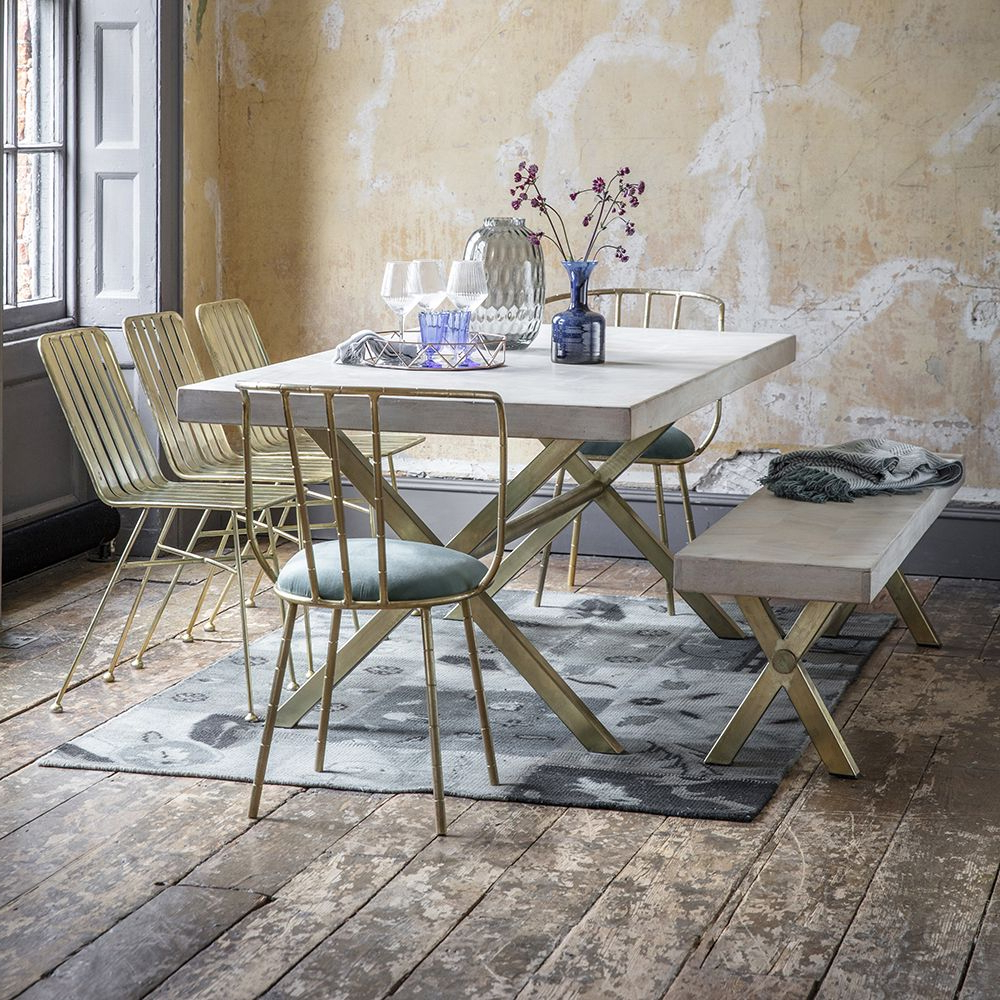 Chevron Dining Table – Large In Most Up To Date Iron Dining Tables With Mango Wood (Gallery 25 of 30)