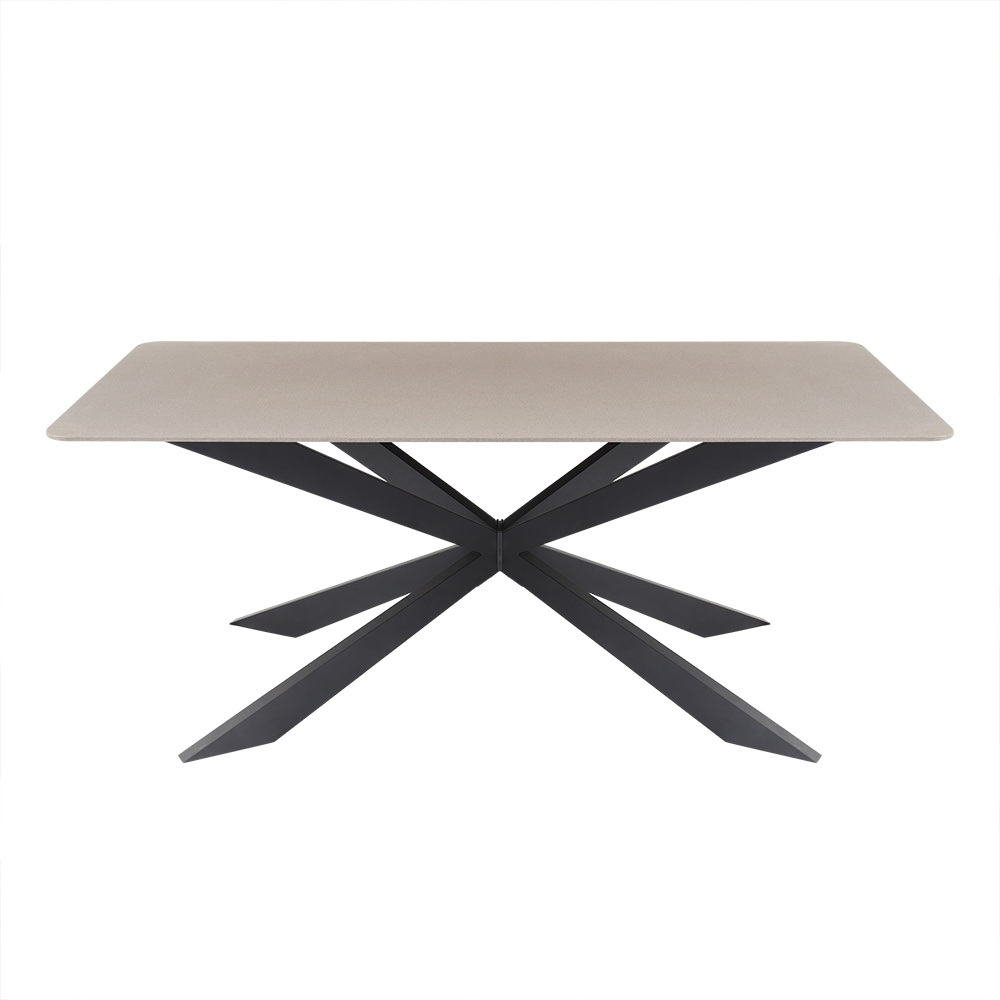 China New Design Glass Dining Table With Metal Leg Furniture With Well Known Glass Dining Tables With Metal Legs (Gallery 16 of 30)