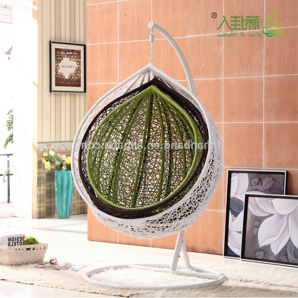 China Outdoor Swing Manufacturers Wholesale 🇨🇳 – Alibaba In Most Up To Date Outdoor Wicker Plastic Half Moon Leaf Shape Porch Swings (View 25 of 30)