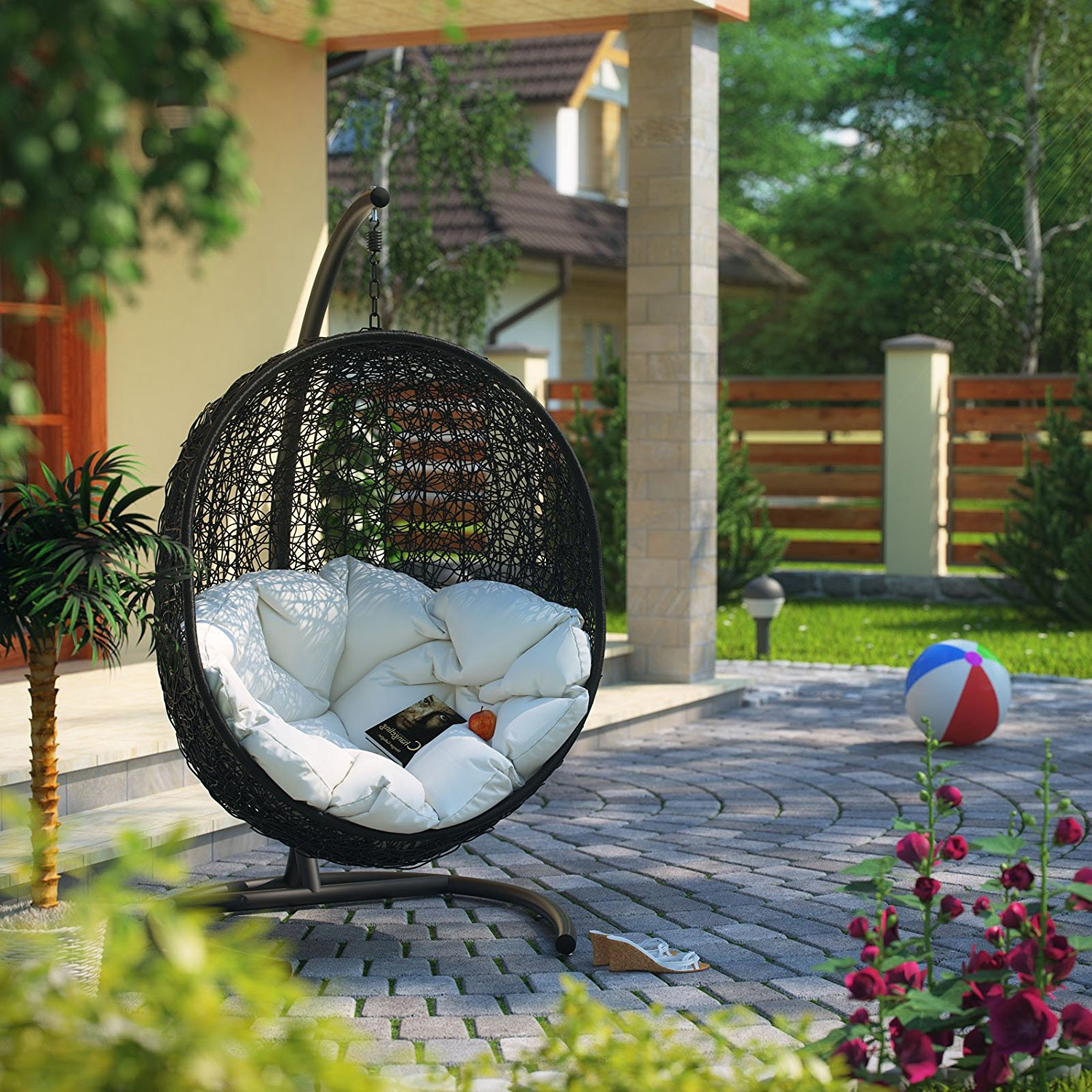 China Rattan Outdoor Patio Swing Chair Manufacturers And With Regard To Popular Rattan Garden Swing Chairs (Gallery 16 of 31)