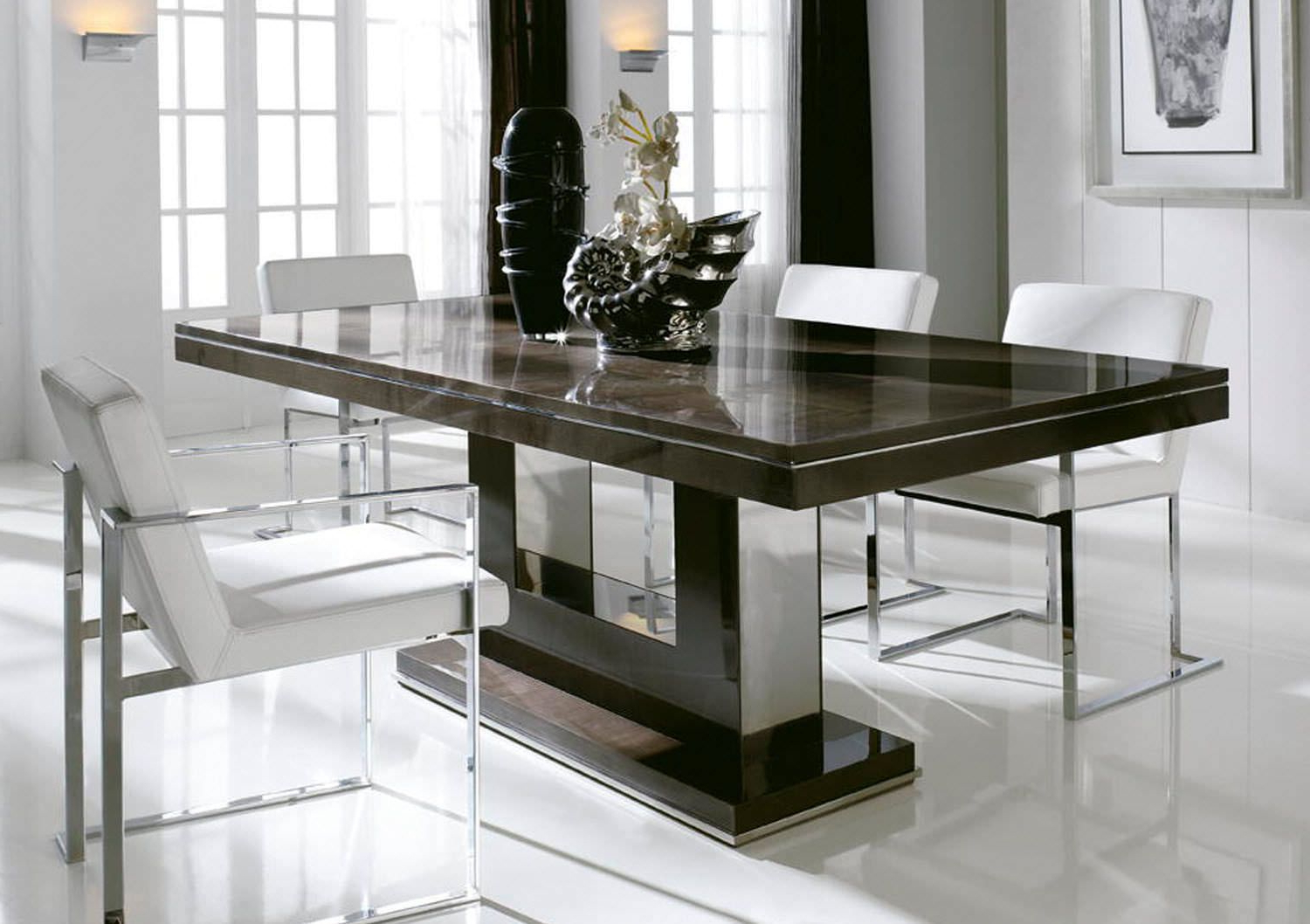 Chrome Contemporary Square Casual Dining Tables For Well Known Design Dining Table Photo (Gallery 7 of 30)