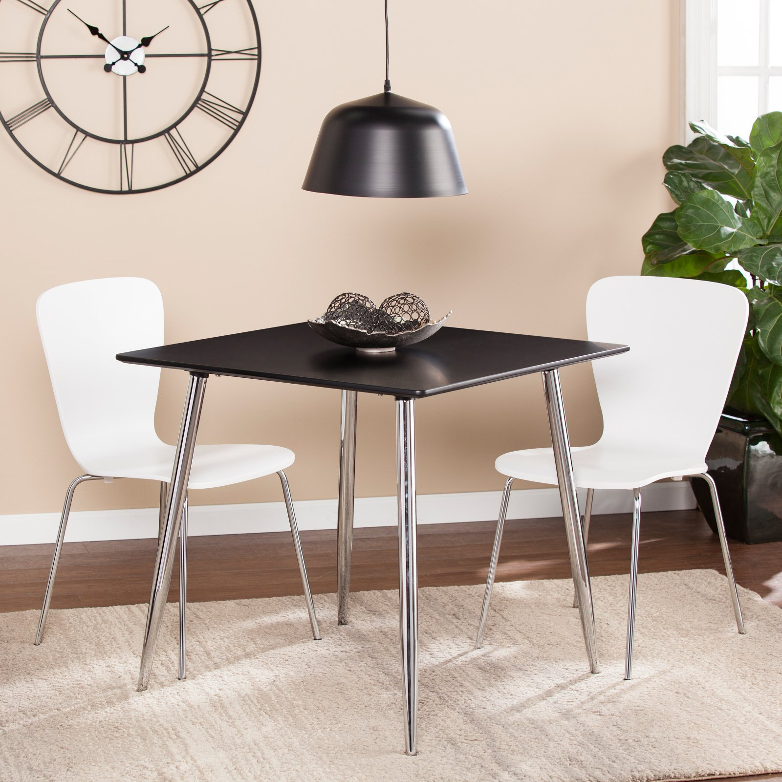 Chrome Contemporary Square Casual Dining Tables With Fashionable Southern Enterprises Kelwyn Dining Table – Walmart (View 29 of 30)