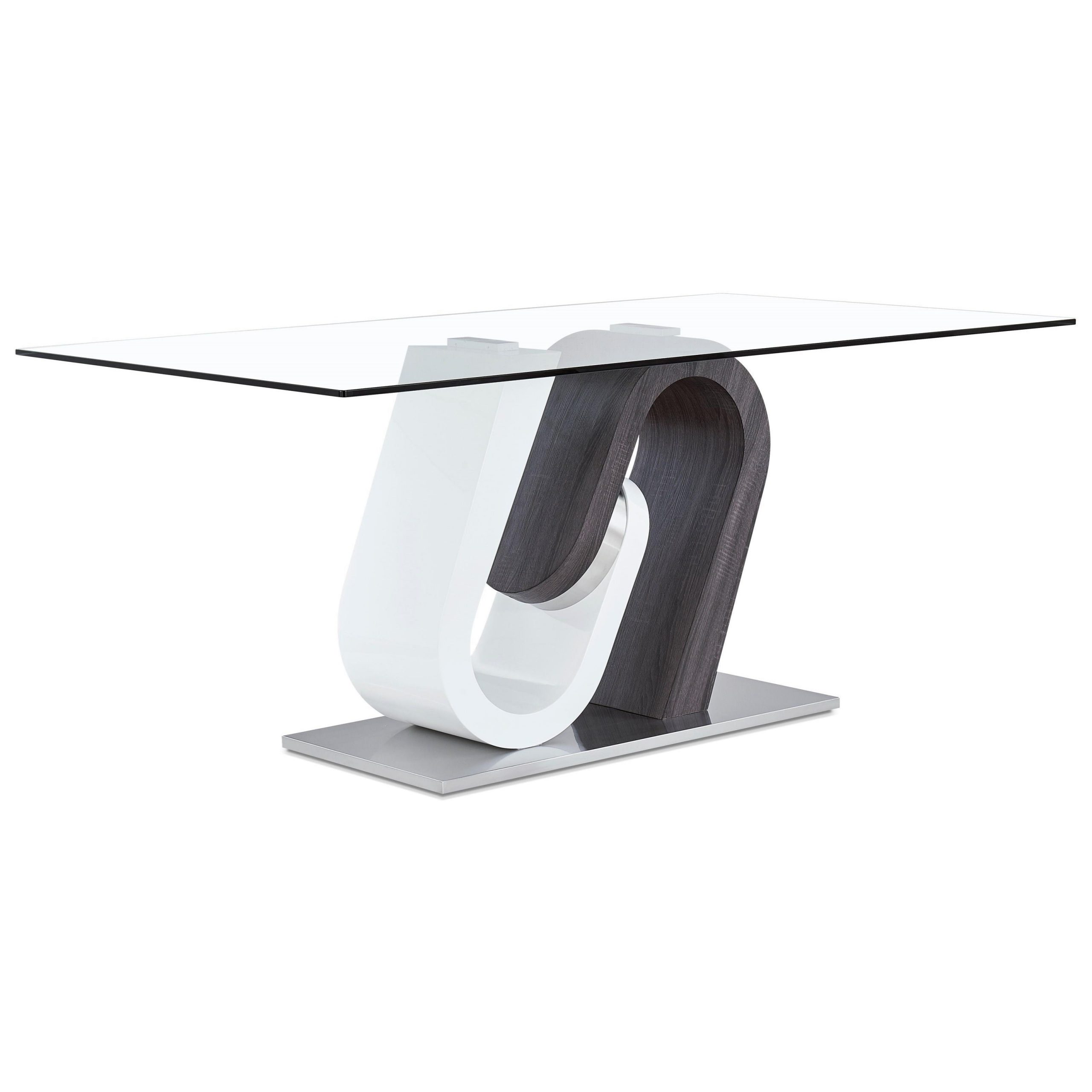 Chrome Contemporary Square Casual Dining Tables With Regard To Most Popular Global Furniture D4127 Ultra Modern Glass Dining Table With (View 19 of 30)