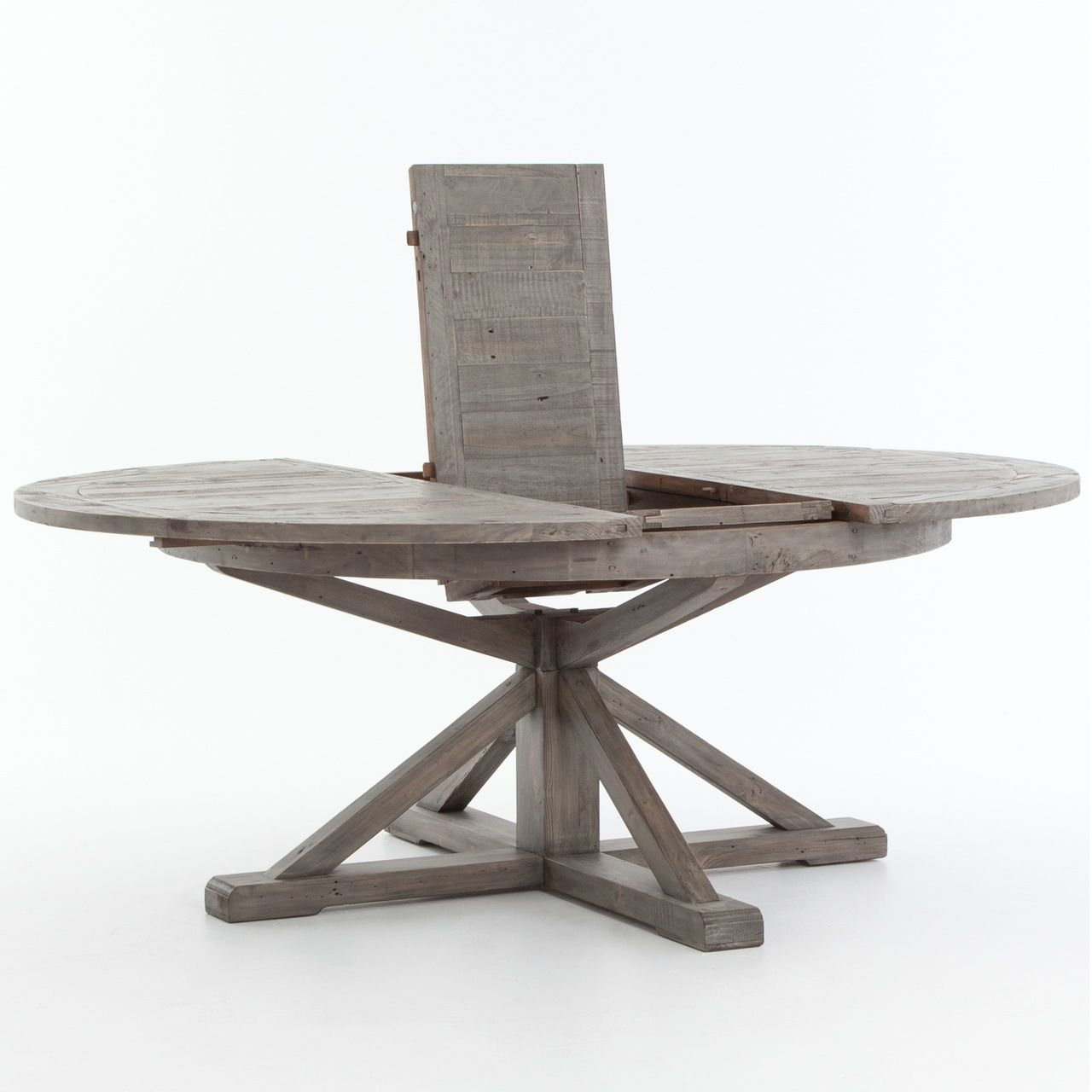 Cintra Reclaimed Wood Extending Round Dining Table 63 Inside Best And Newest Small Round Dining Tables With Reclaimed Wood (Gallery 1 of 30)