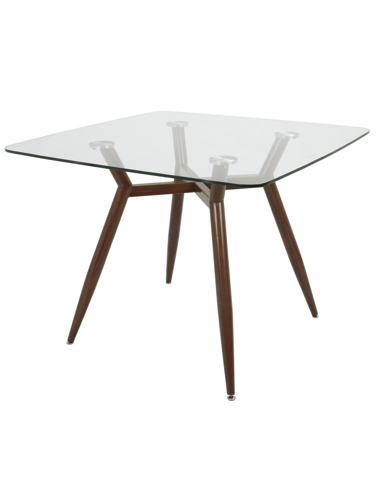 Clara Dining Table – Clara Mid Century Modern Square Dining Regarding Most Current Glass Dining Tables With Metal Legs (View 26 of 30)