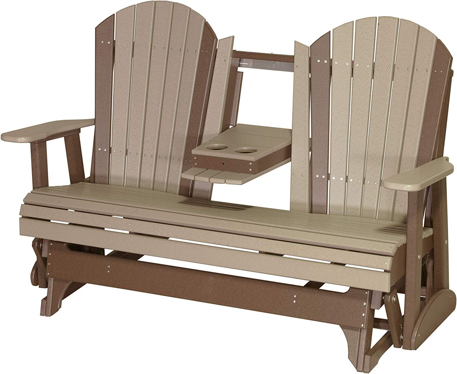 Classic Adirondack Glider Benches Inside Famous Amazon : Furniture Barn Usa Outdoor 5 Foot Adirondack (Gallery 21 of 30)