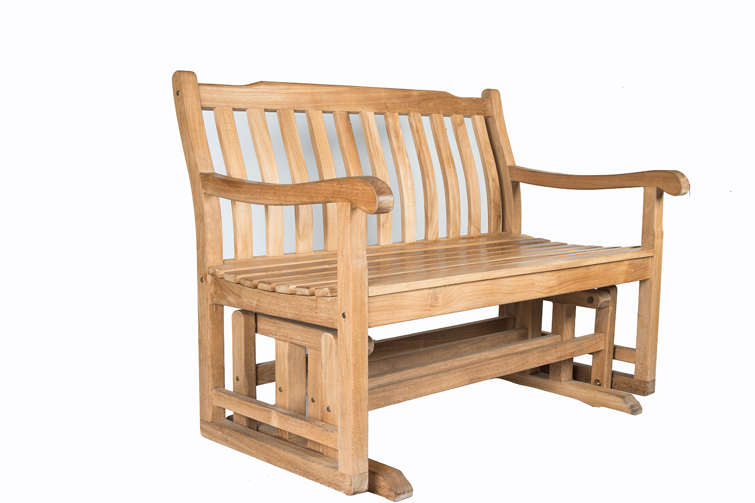 Classic Adirondack Glider Benches Pertaining To Current Shop For Dewata Classic Teak Wood B+ Class Glider Bench (Gallery 19 of 30)
