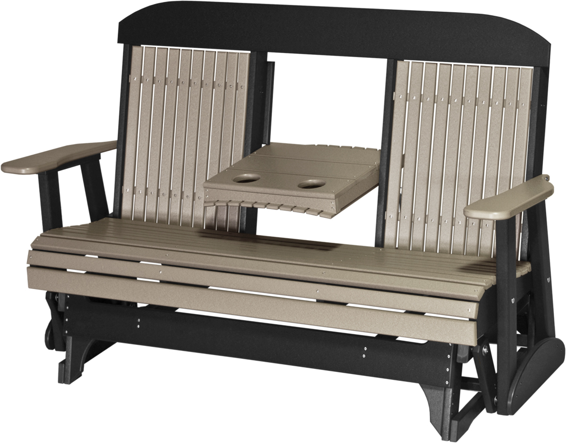 Classic Glider Benches Within 2019 Luxcraft 5' Classic Highback Glider – Amish Yard (Gallery 19 of 30)