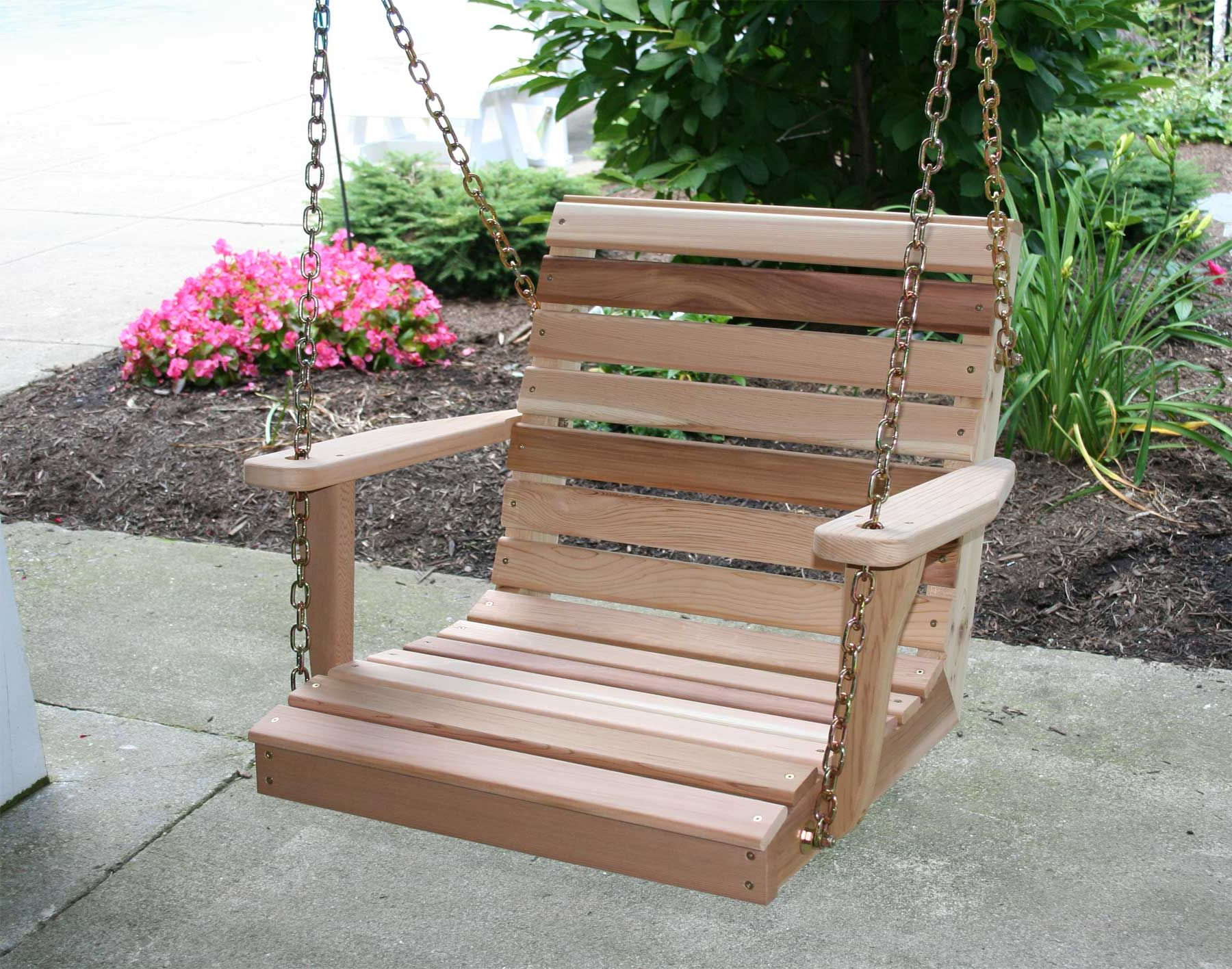 Classic Porch Swings For Preferred Red Cedar American Classic Porch Swing – 2 Porch Swing Shown (View 12 of 30)