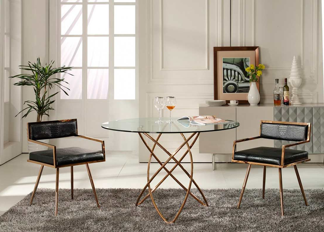 Clear Glass Dining Table Vg (View 9 of 30)