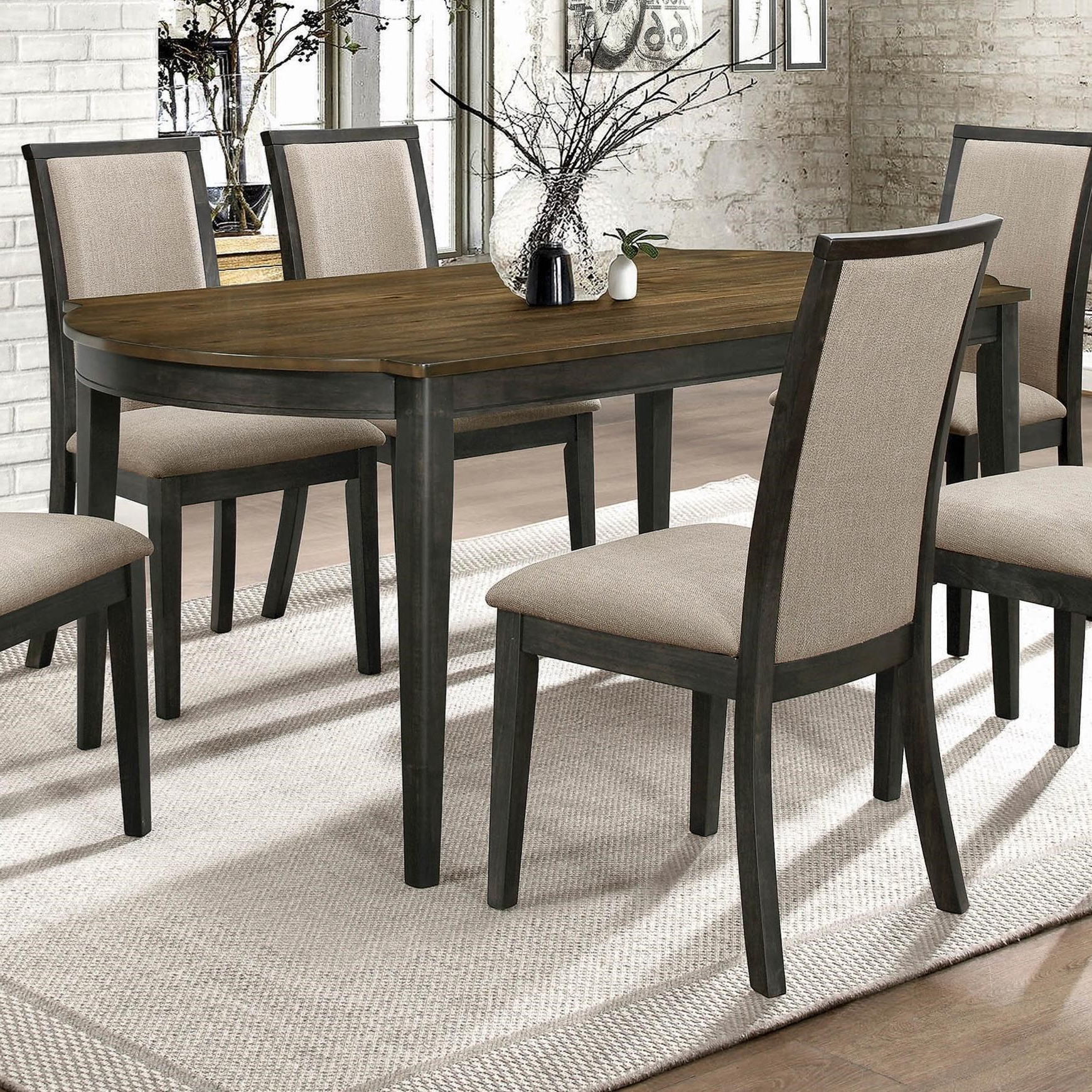 Coaster Clarksville Transitional Dining Table With 2 Tone With Current Charcoal Transitional 6 Seating Rectangular Dining Tables (View 18 of 30)