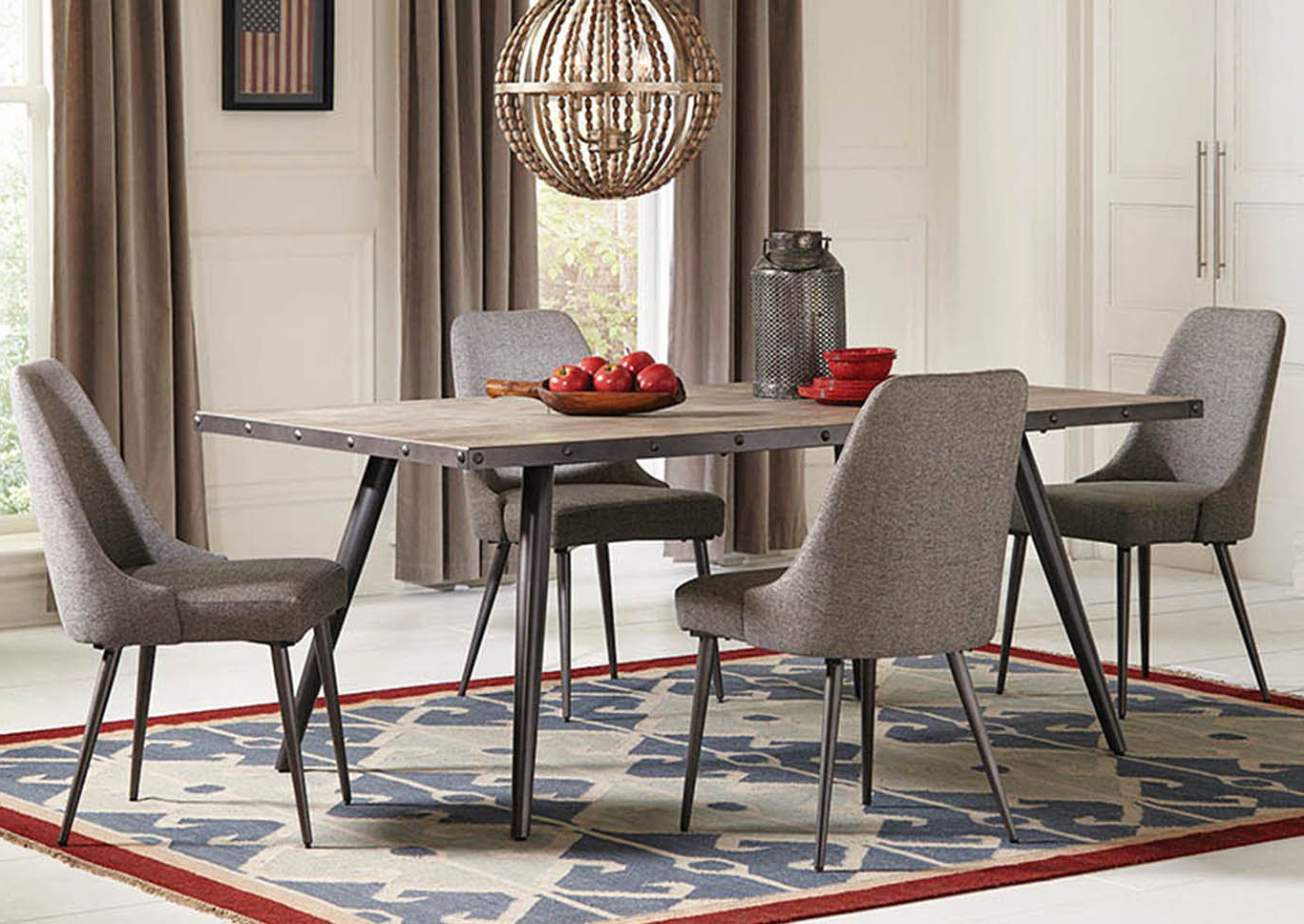 Coaster Contemporary 6 Seating Rectangular Casual Dining Tables For Most Current Home Furnishings Depot – Ny Levitt Dining Table (View 4 of 30)
