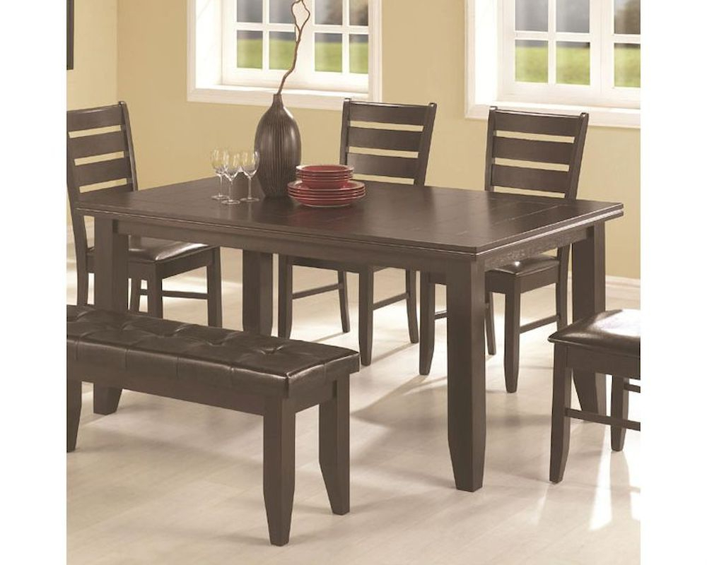 Coaster Contemporary 6 Seating Rectangular Casual Dining Tables Inside Well Known Coaster Page Contemporary Rectangular Dining Table Co  (View 8 of 30)
