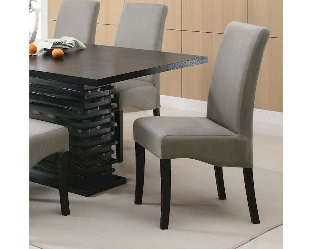 Coaster Stanton Gray Chair Co 102062 (Set Of 2) Intended For Fashionable Coaster Contemporary 6 Seating Rectangular Casual Dining Tables (View 17 of 30)