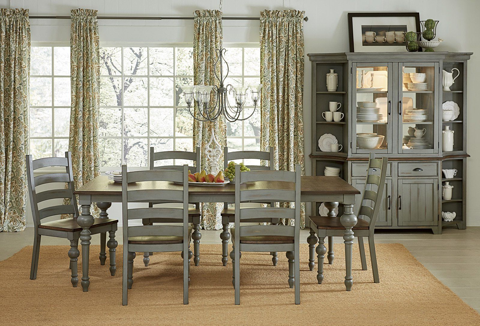 Colonnades Transitional Rectangular Dining Table Putty/oak In Favorite Transitional Rectangular Dining Tables (View 3 of 30)
