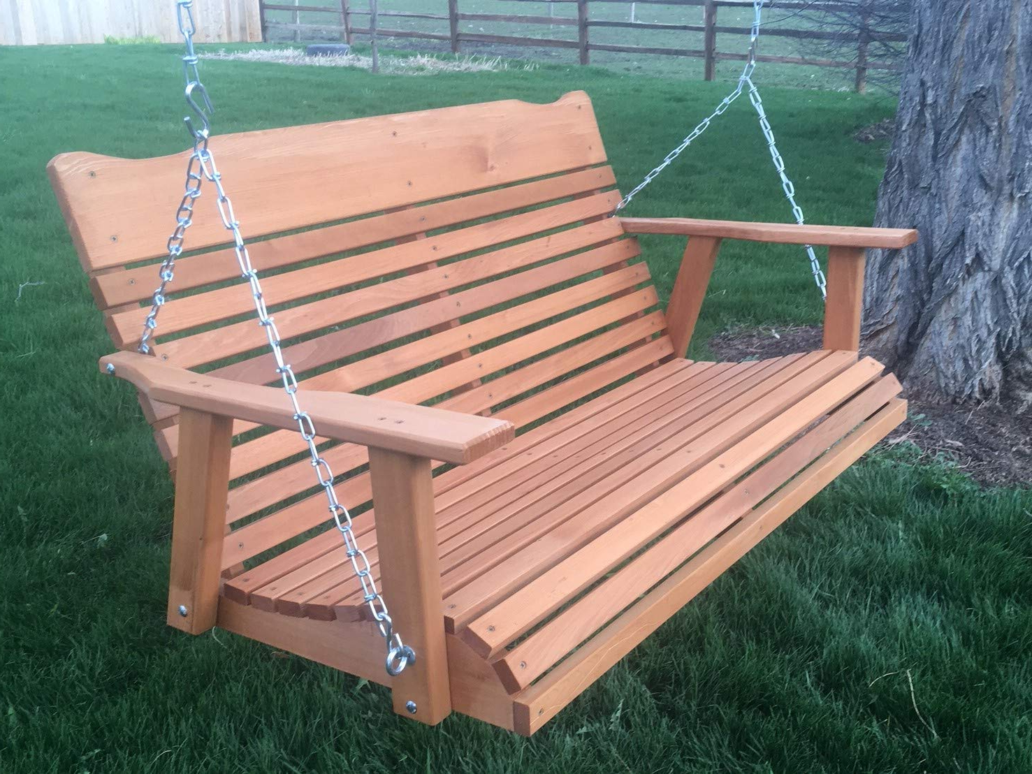 Comfortable And Luxurious Patio Regarding 2 Person Natural Cedar Wood Outdoor Swings (View 10 of 30)