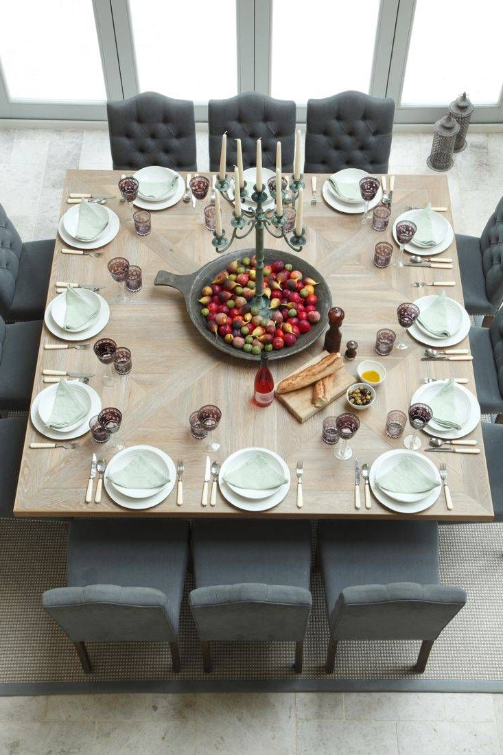Contemporary 4 Seating Square Dining Tables For 2017 Modern, Rustic Thanksgiving Table Settings: 10 Great Ideas (View 8 of 30)