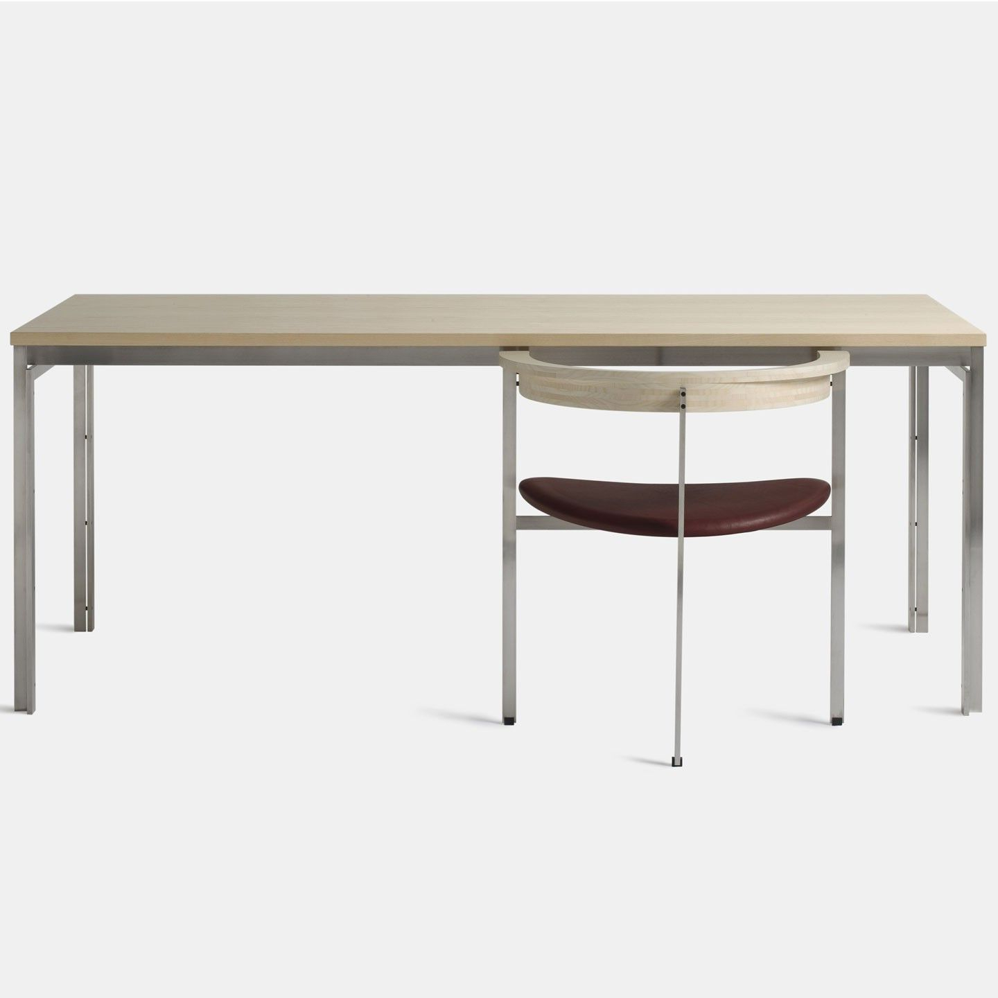 Contemporary Dining Table, Furniture With Dining Tables With Brushed Stainless Steel Frame (Gallery 23 of 30)