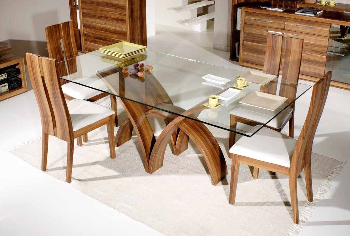 Contemporary Rectangular Dining Tables Intended For Widely Used Rectangular Contemporary Glass Dinning Table (View 2 of 30)