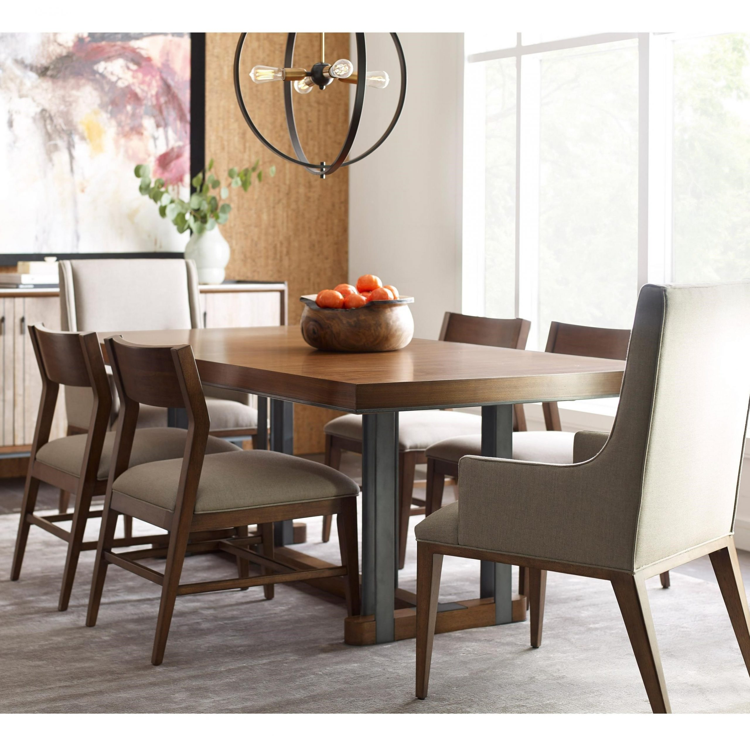 Contemporary Rectangular Dining Tables Regarding Most Recent American Drew Modern Synergy Contemporary Rectangular Dining (View 14 of 30)