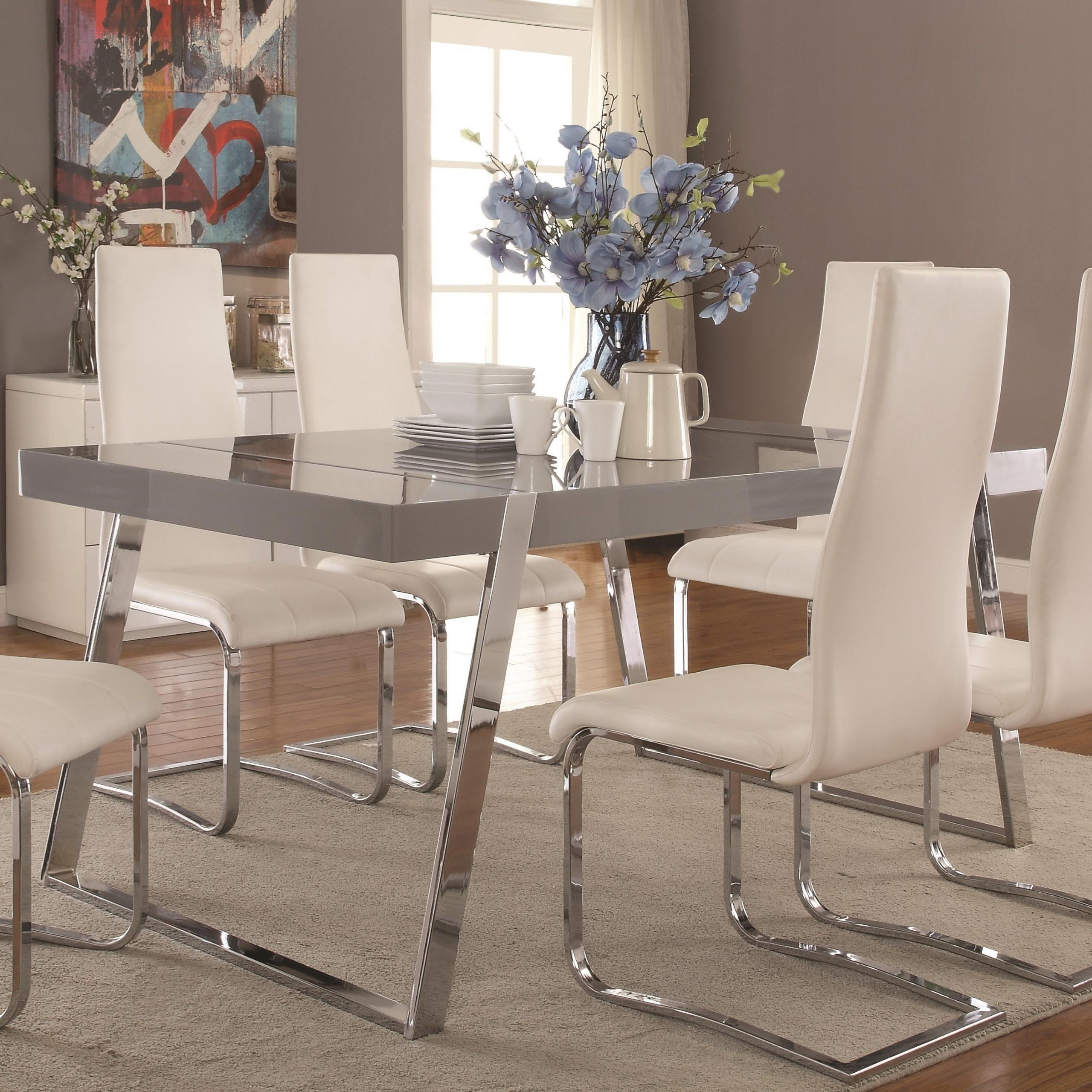 Contemporary Rectangular Dining Tables With Current Giovanni Contemporary Rectangular Dining Table (View 7 of 30)
