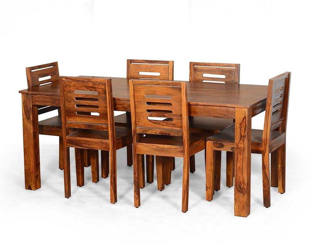 Contemporary Style 6 Seater Rectangula Dining Table Set In Well Known 6 Seater Retangular Wood Contemporary Dining Tables (Gallery 7 of 30)