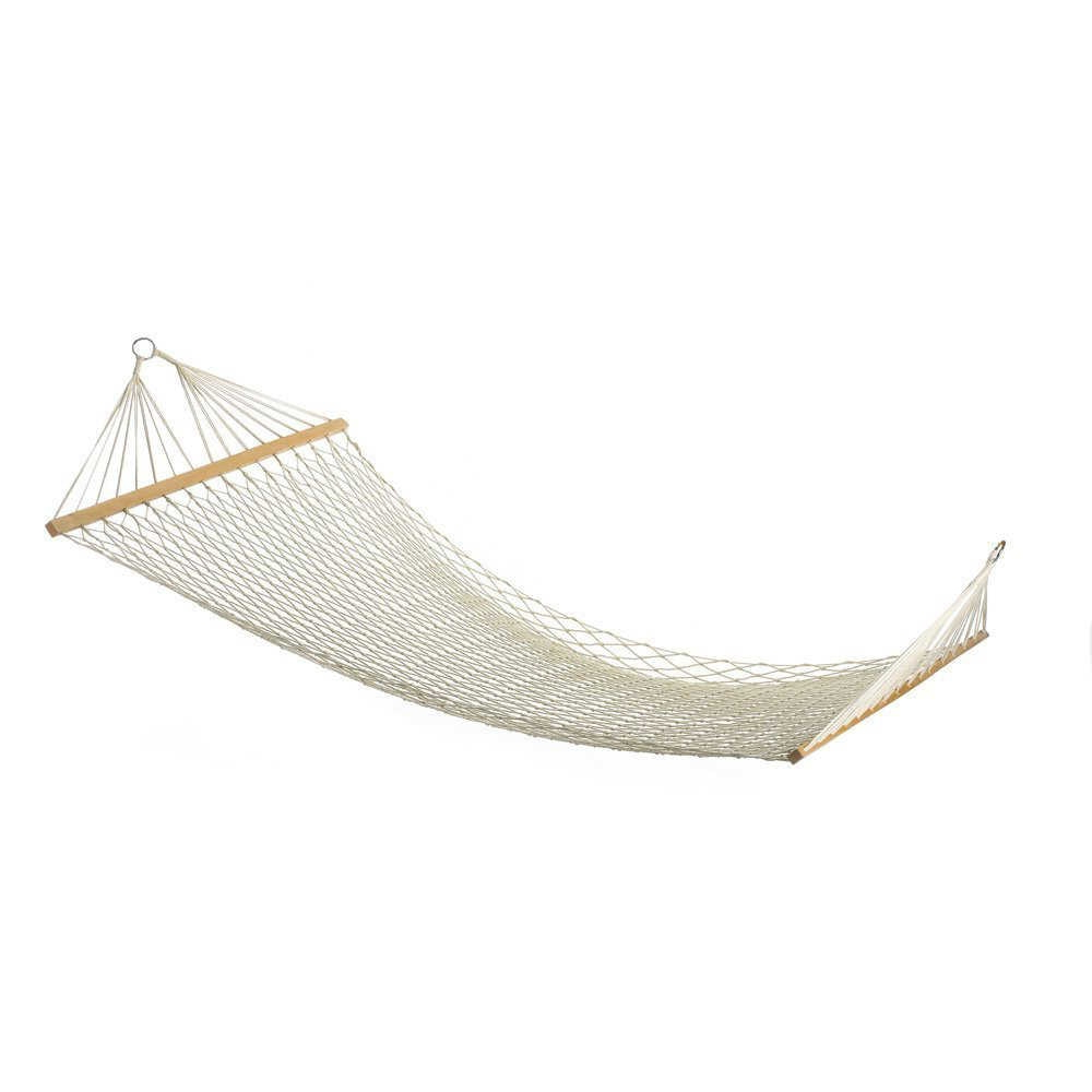 Cotton Porch Swings Intended For Well Known Gsfy White Outdoor Mesh Cotton Rope Swing Hammock Hanging On (Gallery 14 of 30)