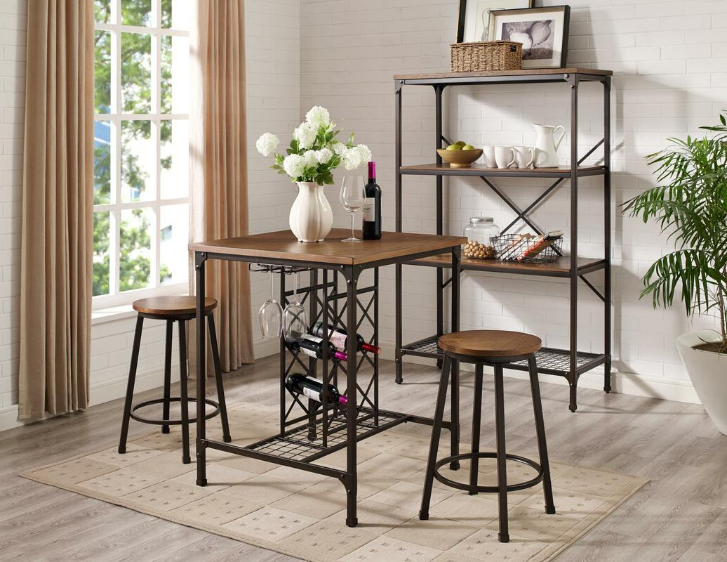 Counter Height Sets – Sm Furniture Pertaining To Widely Used Bistro Transitional 4 Seating Square Dining Tables (View 27 of 30)