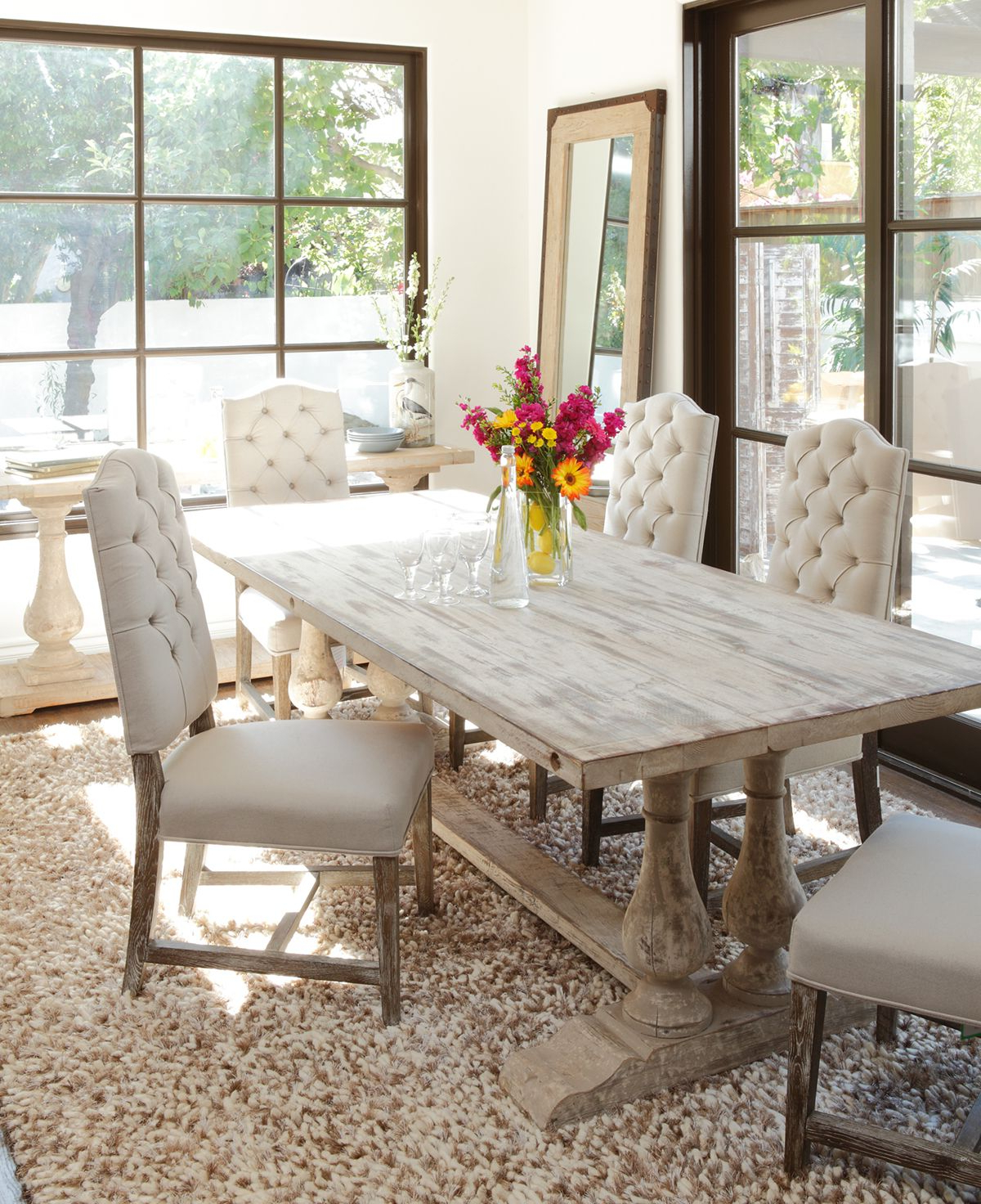 Country Dining Tables With Weathered Pine Finish Regarding Recent Windsor Dining Table (View 9 of 30)