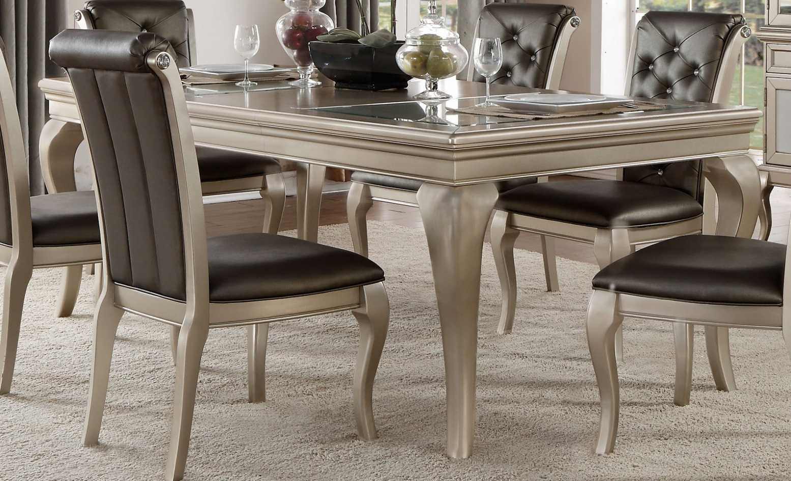 Crawford Transitional Rectangular Extendable Dining Table Within Popular Transitional Rectangular Dining Tables (View 22 of 30)