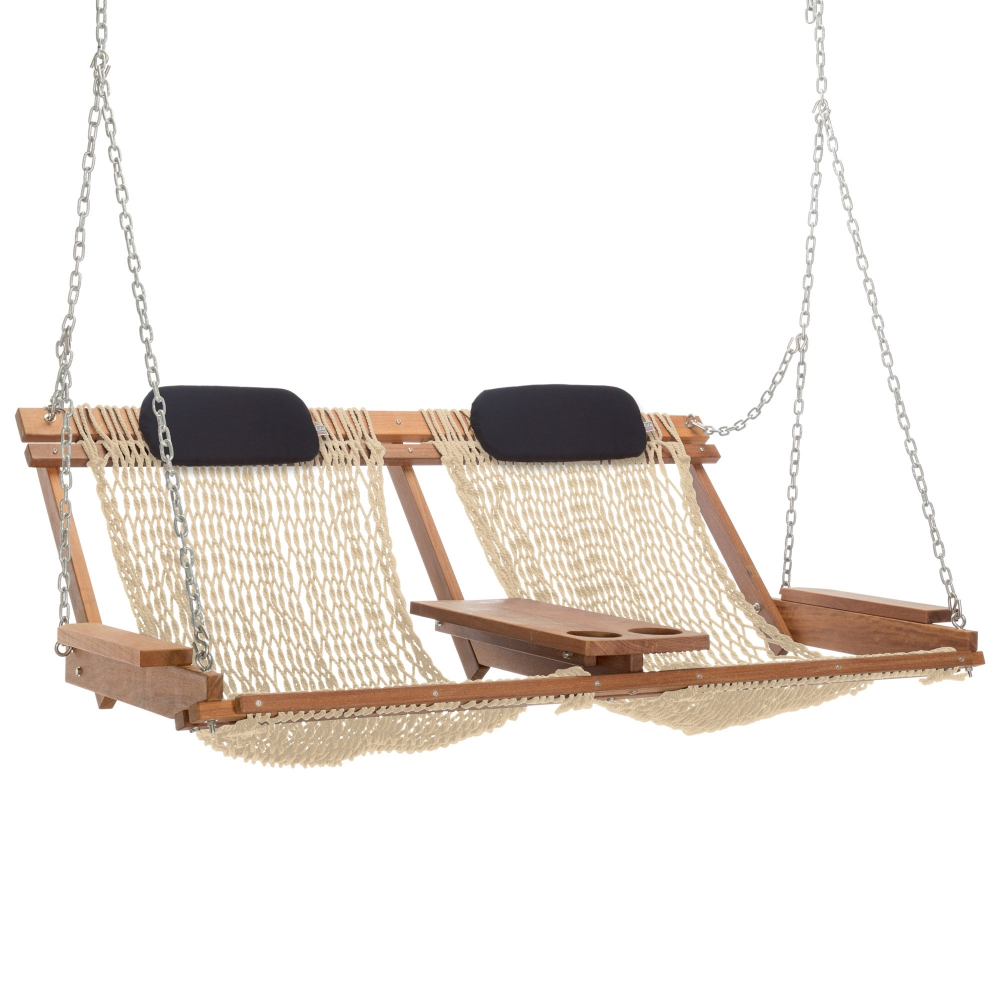 Cumaru Deluxe Double Porch Swing (View 12 of 30)