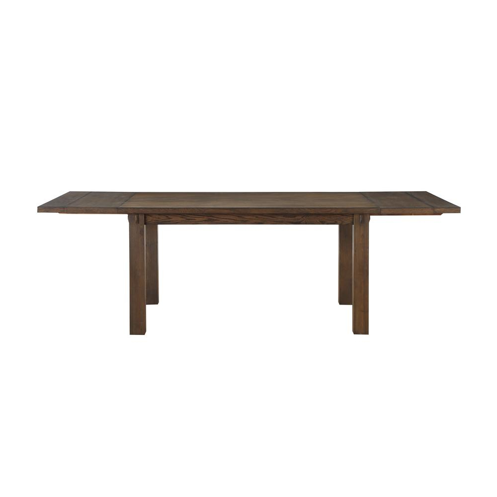 Current Charcoal Transitional 6 Seating Rectangular Dining Tables In Acme Furniture Nabirye Dark Oak Dining Table 73160 – The (View 8 of 30)