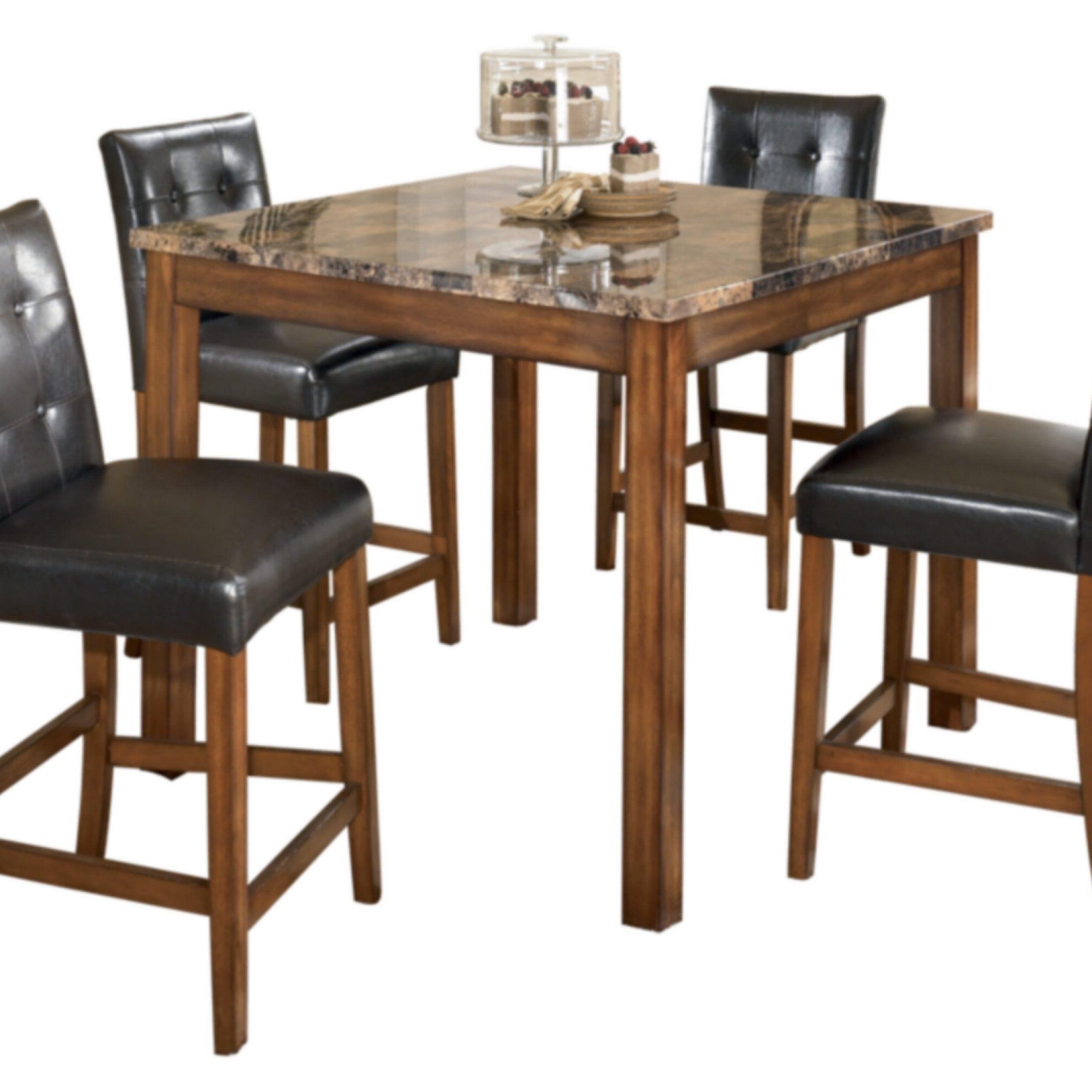 Current Charlton Home Athens 5 Piece Counter Height Dining Set Throughout Transitional 8 Seating Rectangular Helsinki Dining Tables (View 7 of 30)