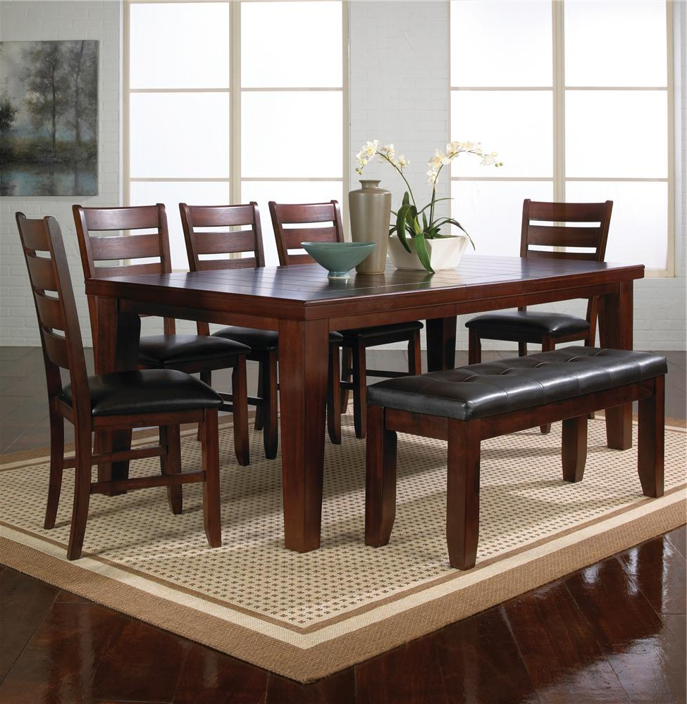 Current Contemporary 6 Seating Rectangular Dining Tables Within Bardstown (2152)Crown Mark – Royal Furniture – Crown (Gallery 8 of 30)