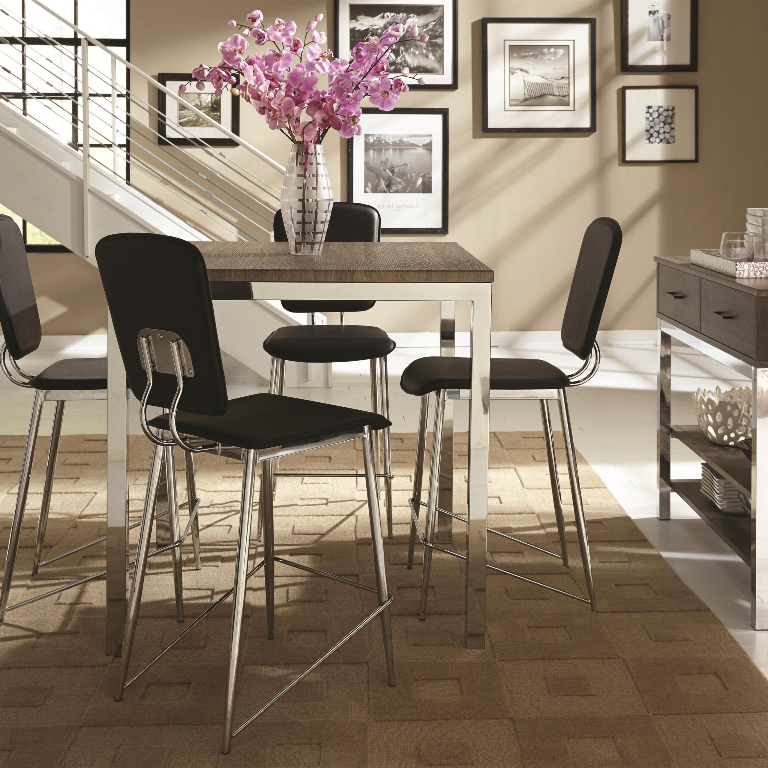 Current Eldridge (12) – Rotmans – Eldridge Dealer Pertaining To Chrome Contemporary Square Casual Dining Tables (View 11 of 30)