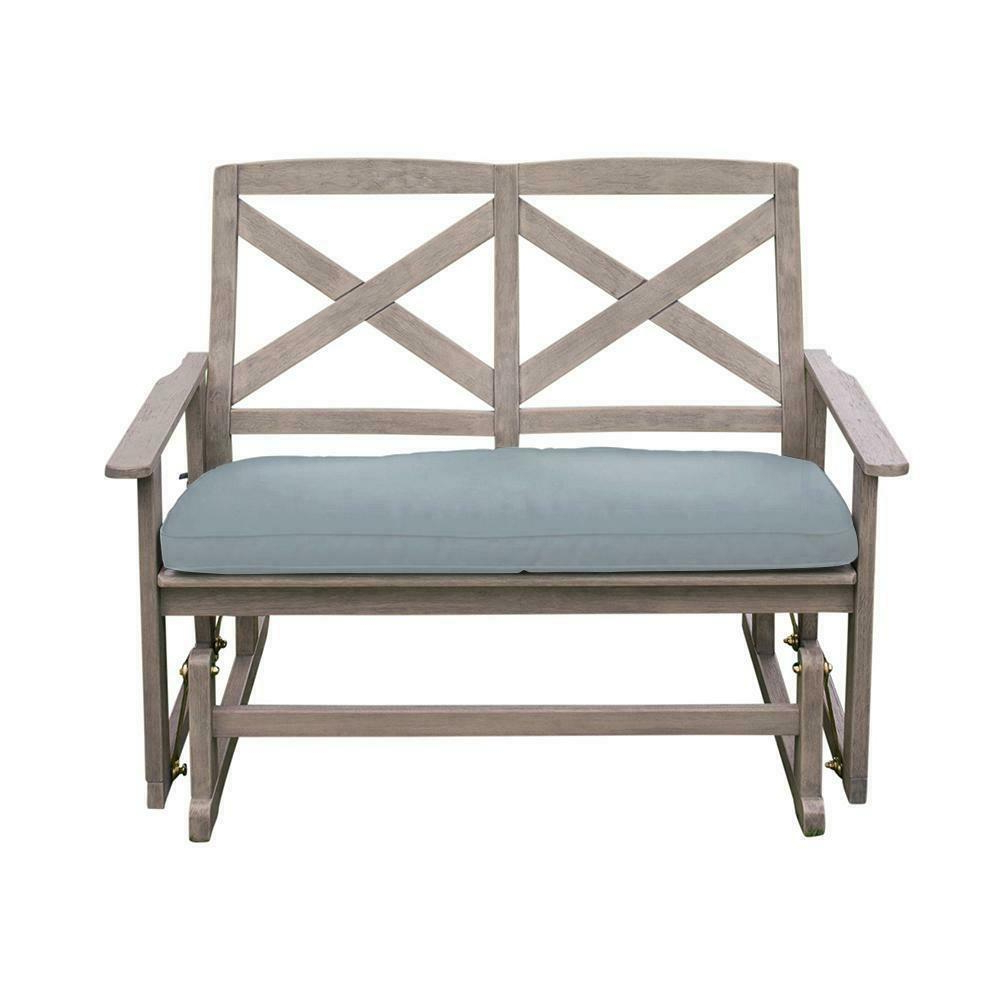 Current Glider Benches With Cushions Pertaining To Details About Glider Bench Cushion Seat Wood Frame Heavy Duty Weather  Resistant Durable Sturdy (Gallery 7 of 30)