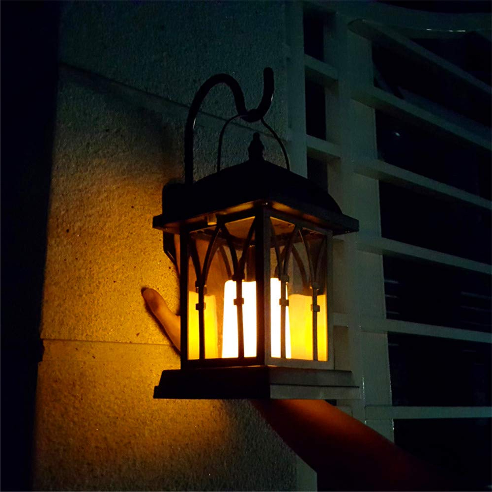 Current Lamp Outdoor Porch Swings Throughout Amazon: Solar Wall Lanterns Outdoor Indoor Decoration (Gallery 30 of 30)