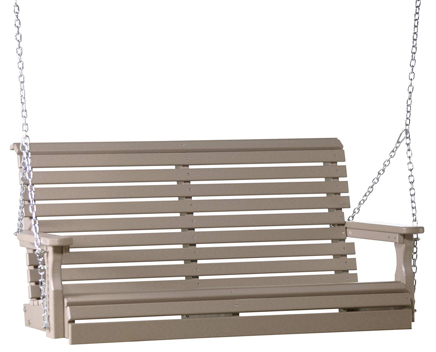 Current Outdoor Polywood 4 Foot Porch Swing – Plain Rollback Design Regarding Plain Porch Swings (View 3 of 30)