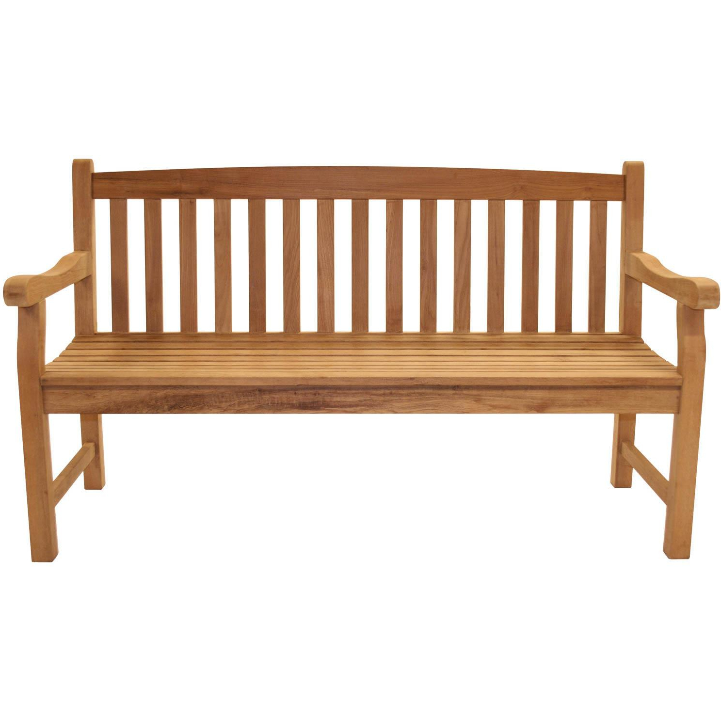 Current Royal Teak Collection Classic 63 Inch Teak Patio Bench Within Teak Glider Benches (View 2 of 30)