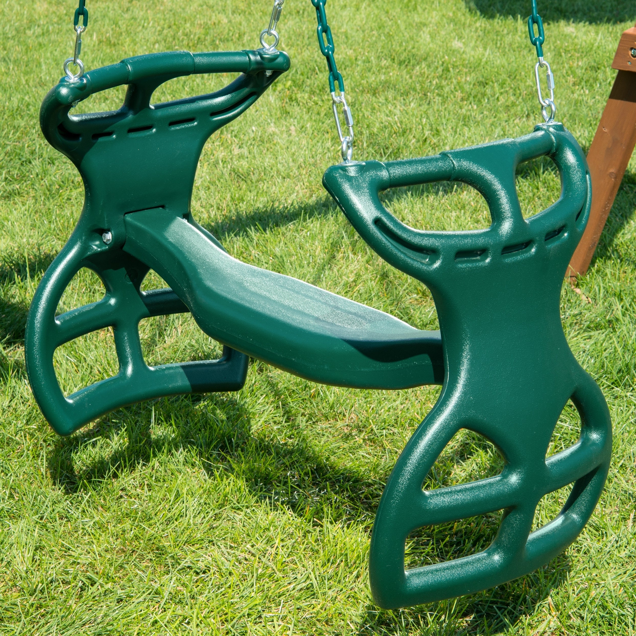 """Current Swing N Slide Dual Ride Glider With Chains – Green – 38"""" L X 16"""" W X 24"""" H Within Dual Rider Glider Swings With Soft Touch Rope (Gallery 21 of 30)"""